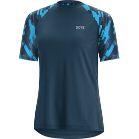 GORE WEAR C5 Trail Maillot Manga Corta Mujer, deep water blue/dynamic cyan